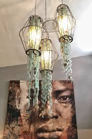 recycled chandeliers 3 piece recycled glass hanging chandelier for more of our custom