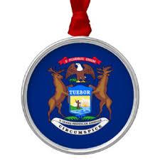 michigan state flag ornaments keepsake ornaments zazzle