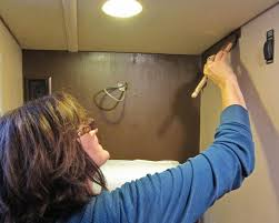 paint vinyl walls in your rv trek with us