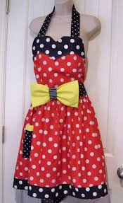 Womens Aprons Womens Legends Minnie Mouse Apron Red Plus Size Womens