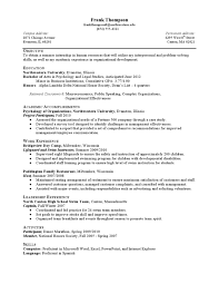 internship resume sample less experienced by northwestern