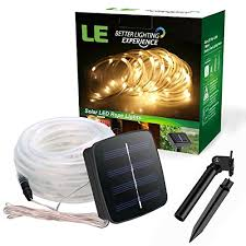 le better lighting experience le 16 5ft led solar lights waterproof 50 leds outdoor