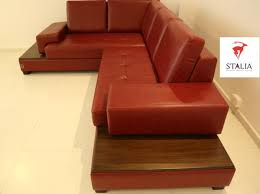 shape luxury leather sofa wooden finish sofa wooden stalia