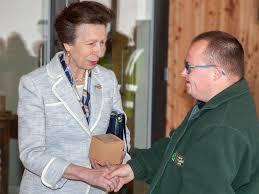 Princess Anne Royal Unveiling As Princess Anne Opens Cci Facility Lanark Life