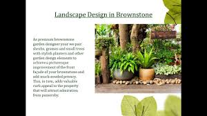 brownstone garden and landscape design nyc greening stone youtube