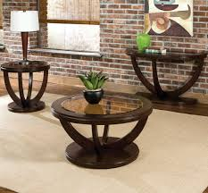 standard furniture la jolla 3 piece coffee table set in cherry