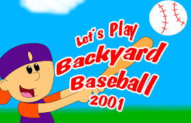 let u0027s play backyard baseball 2001 title card by wileythekoyote on