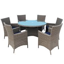 6 Chair Patio Dining Set - outdoor rattan dining chairs