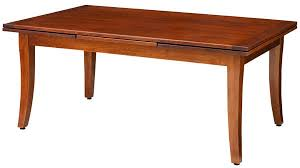 westfield amish dining table in pa self storing or extension style