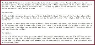 essay article on baisakhi or vasakhi festival in punjabi