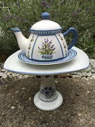 Upcycled Garden Decor Teapot Whimsy Ceramic Garden Whimsy Garden Art Sculpture Garden