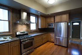 charming black color wooden high end kitchen cabinets with double