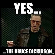 Christopher Walken Cowbell Meme - yes the bruce dickinson christopher walken cowbell meme