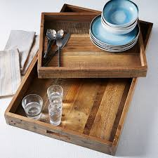 reclaimed wood trays west elm
