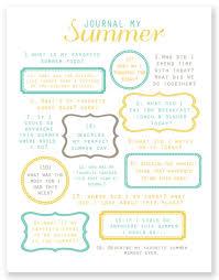7 best images of summer journal prompts printables free summer