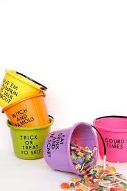 halloween diy painted trick or treat candy buckets u2013 design sponge