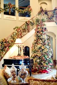 christmas staircase decorations ornaments and staircase