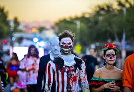revelers pack west hollywood for halloween party la times