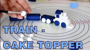 how to make sugar paste fondant train cake topper happyfoods