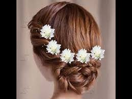 flower decoration for hair hairstyles for deewali hair style with flowers hair