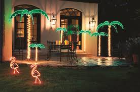Lighted Snowflakes Outdoor by Roman Inc Tropical Lighted Holographic Light Outdoor Palm