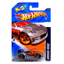 nissan hotwheels amazon com wheels nissan 350z grey silver heat fleet