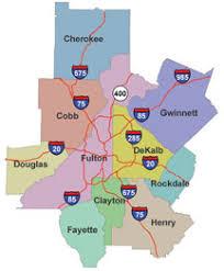 map of metro atlanta map of metro atlanta 10 counties atlanta intown paper