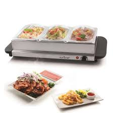 Side Buffet Server by Nutrichef Pkbfwm33 Food Warming Tray Buffet Server U0026 Plate