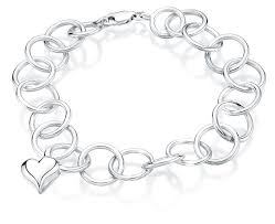 cremation jewelry bracelet heart charm link sterling cremation jewelry bracelet for ashes