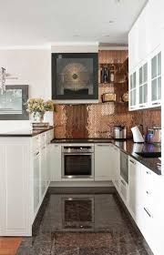 copper backsplash kitchen copper backsplash ideas kitchen with transitional doorknobs