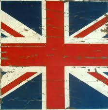 Blue Union Jack Cushion Vintage British Flag Union Jack Velvet Cushion Panel Textile
