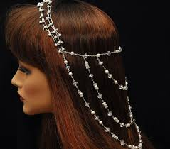 pearl headpiece wedding pearl headpiece bridal headpiece the great gatsby
