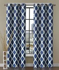 Navy Blue And White Curtains Blackout Lined Arrow Grommet Curtains Free Shipping Choose
