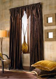how to use brown curtains in the interior design
