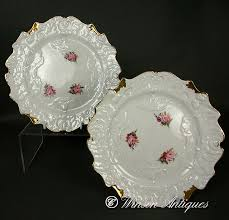 cabbage china c j bone china cabbage leaf dessert plates c 1815 to c 1825