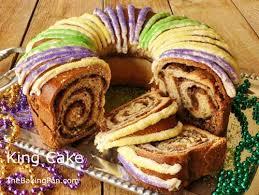 mardi gra cake king cake recipe yeast bread thebakingpan