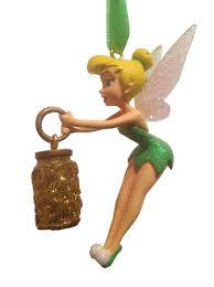 ornament tinker bell with pixie dust bottle