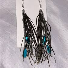 how to make feather earrings feather earrings with turquoise from s closet on poshmark