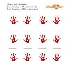 handprint counting by 5 u0027s u2013 lesson this