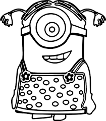 Desenhos Para Colorir Minions A4