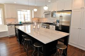 Large Island Kitchen Chic Absolute Black Granite Look Other Metro Contemporary Kitchen