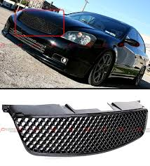nissan altima 2005 price in qatar glossy black jdm 3d diamond front hood mesh grill grille for 05 06