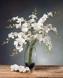 silk orchids orchid silk flower stems for casual decorating at petals