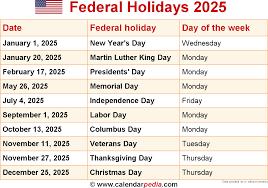 holidays 2025
