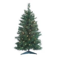 Downswept Slim Christmas Tree by Sterling Tree Company 4 Ft Alpine Pre Lit Christmas Tree Hayneedle