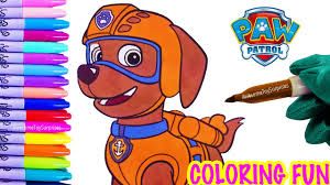zuma coloring page fun nickelodeon paw patrol speed coloring