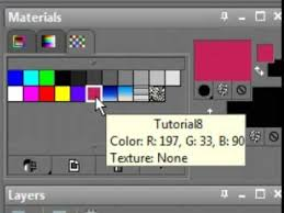 paint shop pro basics 8 materials swatches youtube
