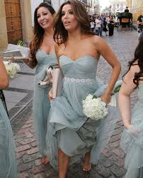 eva longoria in jenny yoo u0027s annabelle bridesmaid dress try it on