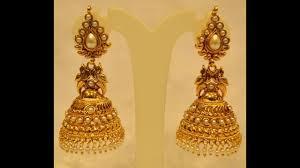 big jhumka gold earrings fashion gold jummuka earrings yellow gold jhumka