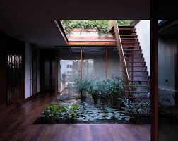 courtyard home designs serene house with courtyard pond